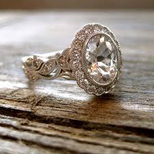 natural wedding rings images Elegant natural diamond and white sapphire engagement ring jpg