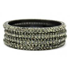 bangles bracelet images 3 line grey crystal bangles JPG
