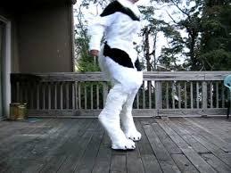 Stilt Costumes Halloween Werewolf Costume Stilt Progress 3