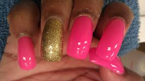 long pink nails youtube