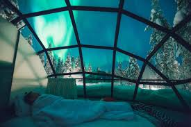 best time of year for northern lights in iceland see the northern lights from a glass igloo in the middle of the