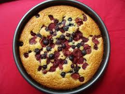 sunken berry cherry cake recipe