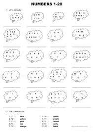 28 free esl numbers 1 20 worksheets