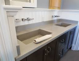 custom concrete bathroom sinks trueform concrete industrial