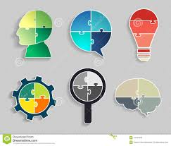 infographic template jigsaw banner concept modern design stock