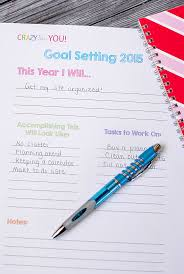 goal setting worksheet u0026 tips crazy little projects