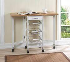 Kitchen Folding Tables by Folding Kitchen Cart Ebay