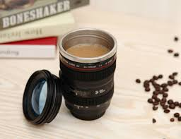 camera lens coffee mug gadget flow