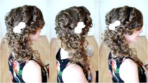 prom hairstyles side curls side swept cascading curls prom homecoming hair