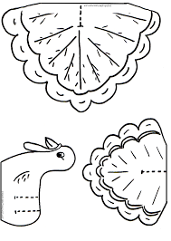 thankful turkey craft template coloring cutouts for