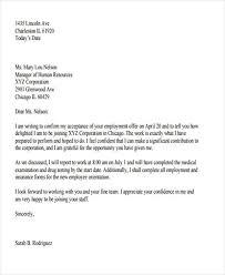 job offer acceptance letters tips examples job offer letter