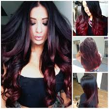 Colorful Hair Dye Ideas Black And Burgundy Ombre Hair Colors Hair Color Trends 2016 Inside