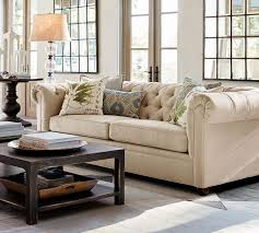 Living Room Furniture North Carolina by Living Room Media Nl Pottery Barn Chesterfield Sofa Upholstered