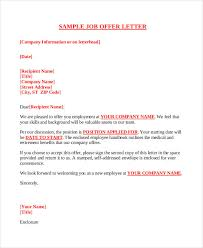 Business Letter Offer company offer letter template 7 free word pdf format