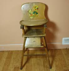 Antique Wooden High Chair Vintage Wooden High Chair Ebth