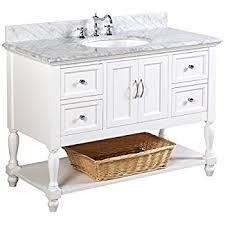 41 Inch Bathroom Vanity by Beverly 48 Inch Bathroom Vanity Carrara White Includes