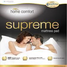 short queen home comfort mattress pad carpenter 31374554233