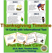 thanksgiving timeline task cards creative thinking timeline and