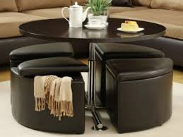 round coffee table with stools underneath aloin info aloin info