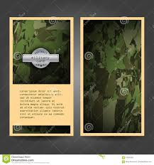 Free Military Business Cards Military Stationery Template Design With Stock Vector Image