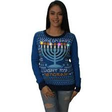 light up hanukkah sweater ugly christmas sweater womens come on baby light my menorah led