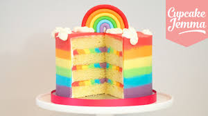 cake how to rainbow ombré cake how to cupcake jemma