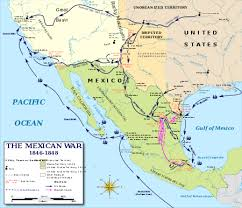 map of mexico and california mexican american war