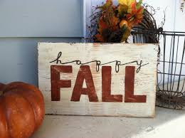 happy fall hand painted rustic wooden sign for by asign4life