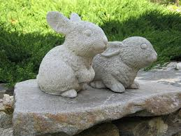rabbit garden rabbit statues garden rabbits garden bunnies concrete
