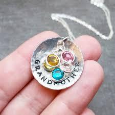 grandmother necklace grandmother necklace with birthstones scifres handmade jewelry