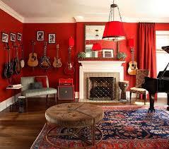 Red Living Room Home Design Ideas - Red living room decor
