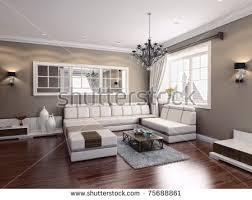 livingroom modern livingroom modern interior 3d rendering stock illustration