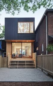architecture wooden modern modular home designs with small black