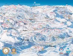 Alps On World Map by St Anton Am Arlberg Trail Map