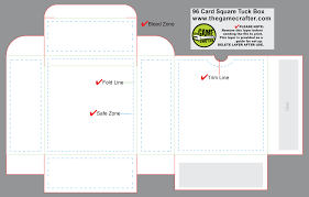 square tuck box 96 cards