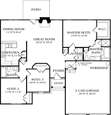 craftsman style house plan 3 beds 2 baths 1400 sq ft plan 453
