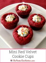 mini red velvet cookie cups the pintertest kitchen