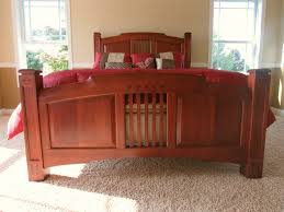 Living Spaces Beds by Cherry Wood Bed Frame Single Hung Windows With Grids On Each Side