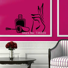 high quality nail art window decal buy cheap nail hand art vinyl wall decal manicure beauty salon removeable sticker mural