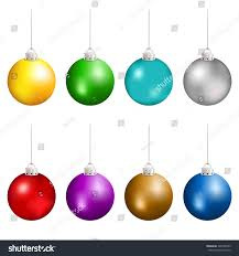 christmas balls different colors hanging vector stock vector