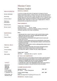 sample resume of business analyst resume samples and resume help