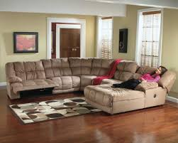 Oversized Recliner Furniture U Shaped Brown Oversized Sectionals Sofa With Ottoman