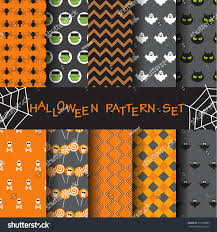 halloween repeating background patterns 10 different halloween vector seamless patterns stock vector