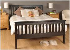 Modern Wooden Bed Frames Uk King Furniture Solid Wood Bed Frames U0026 Divan Bases Ebay