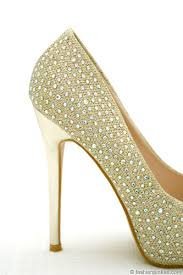 wedding shoes gold flash sale glamorous rhinestone open peep toe pumps heels wedding