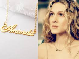 gold name necklacepersonalized carrie bradshaw necklacesex