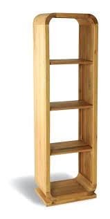Bookcase Tall Narrow Bookcase Wayland Oak Tall Narrow Bookcase With Storage Drawer