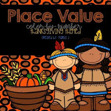 place value color by number thanksgiving themed by createdbymarloj