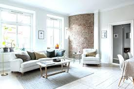 brick wall room decor a bright interior design apartment with one