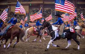 California Flag Horse Cowboys And Crow Hoppers Scenes From The 2017 Grand National Rodeo